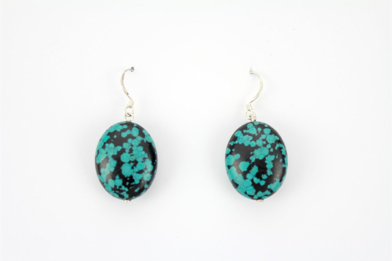 Medium Oval Turquoise polished stone Hand Made Individual design