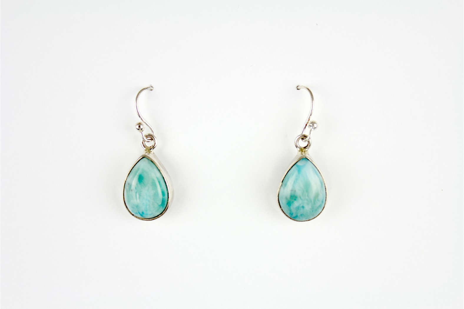 Short Drop Larimar Earrings.  TEMPORARILY OUT OF STOCK.