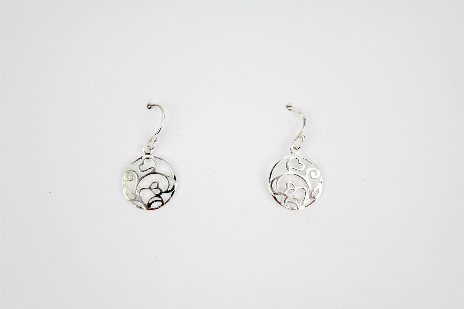 Contemporary circular floral design silver detailing