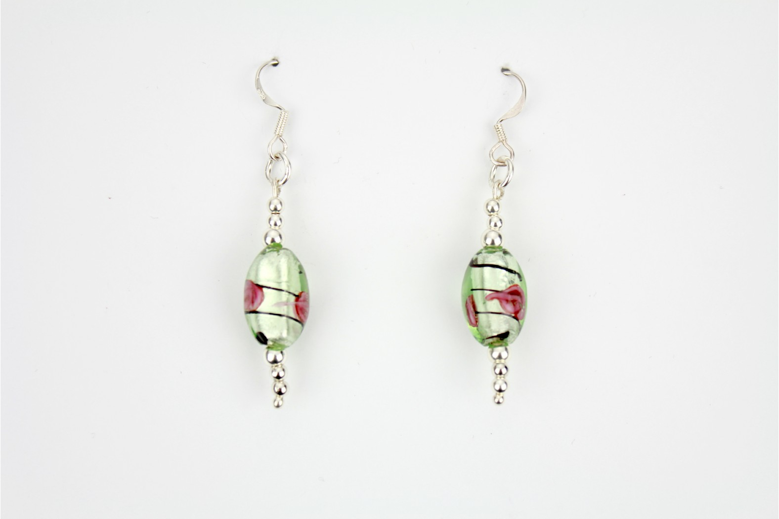 Dichroic Glass individual design with silver ball embellishments