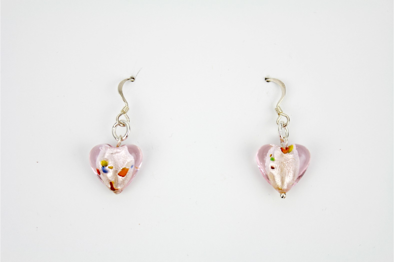 Dichroic Glass individual design pink hearts colour inserts