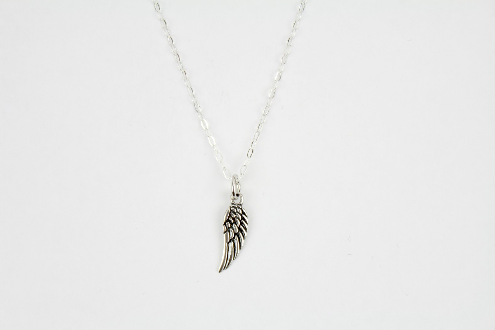 Charm style Angel wing on 18ins  45cm lightweight link chain