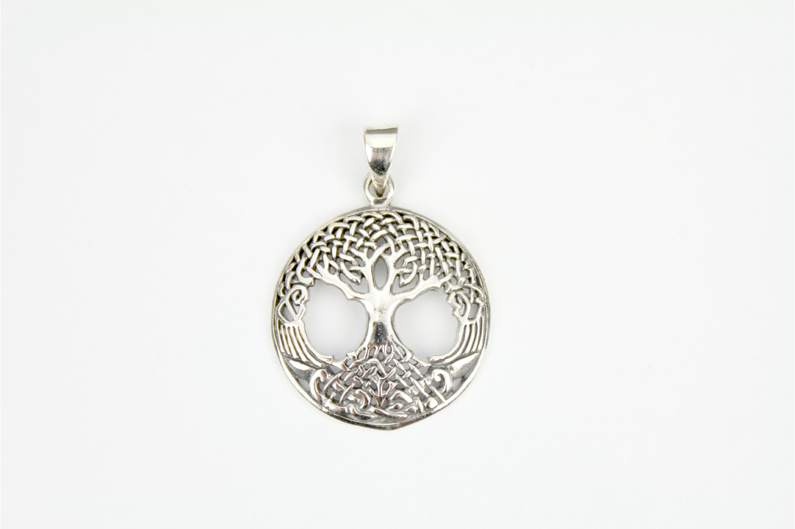 Large circular chunky design Tree of Life silver detailing.  DELIVERY 7 WORKING DAYS
