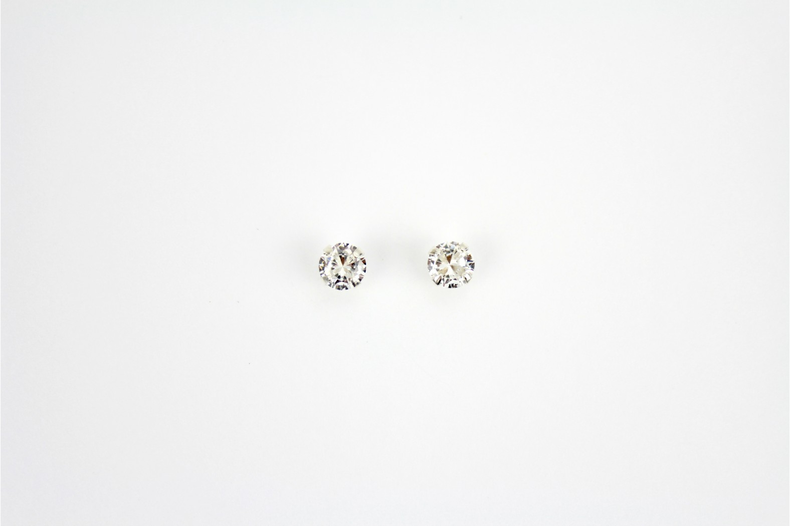 Austrian Crystal claw set stud earrings faceted shaped Large