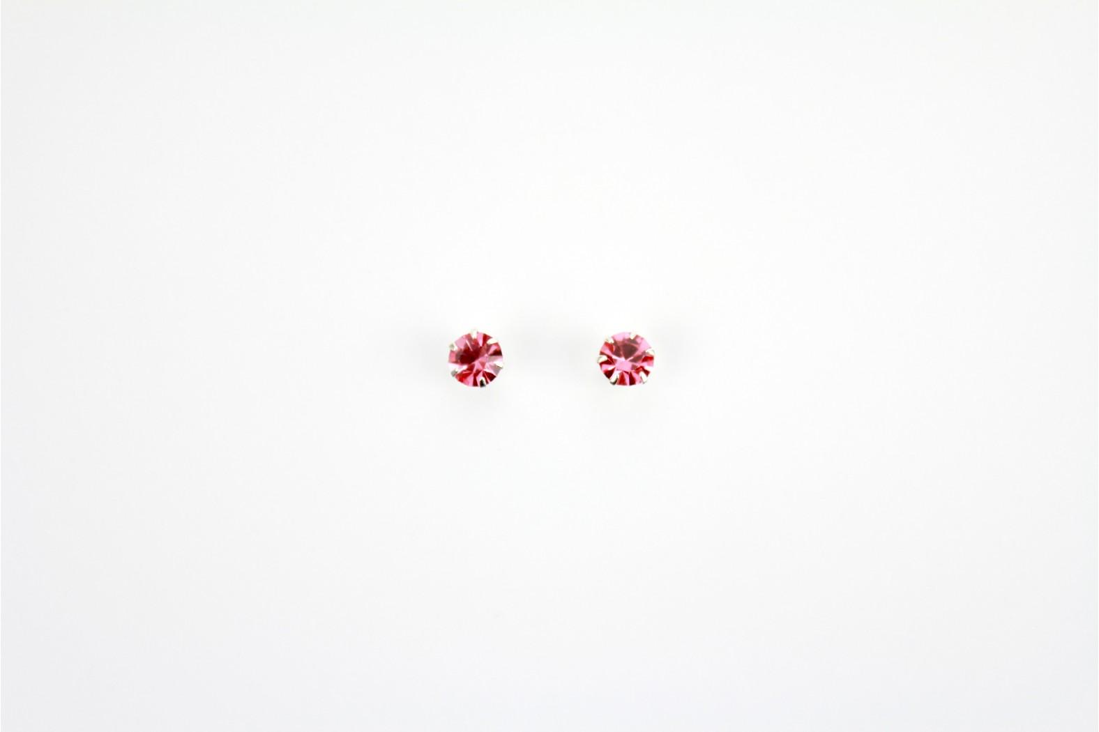 Austrian Crystal claw set stud earrings Purple