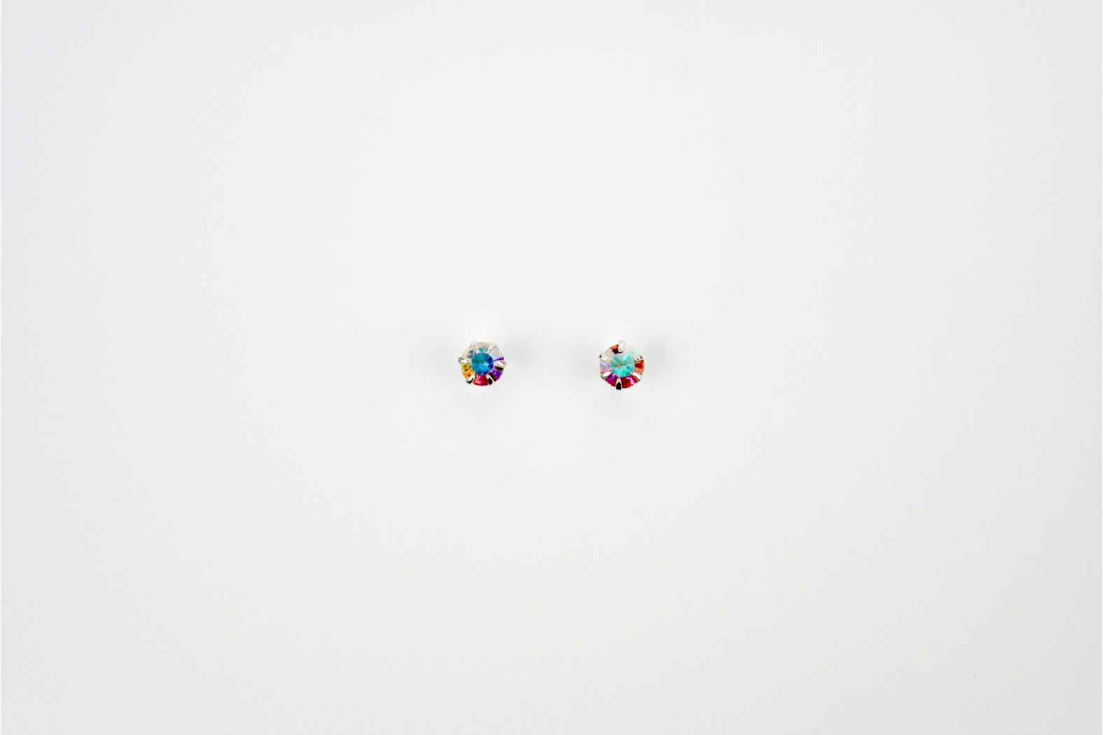 Austrian Crystal claw set stud earrings A B.colours. medium