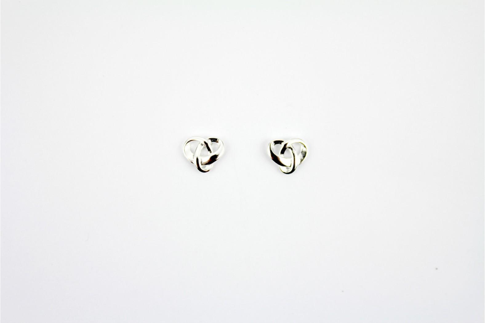 Celtic Inspired Designe bright silver stud earrings