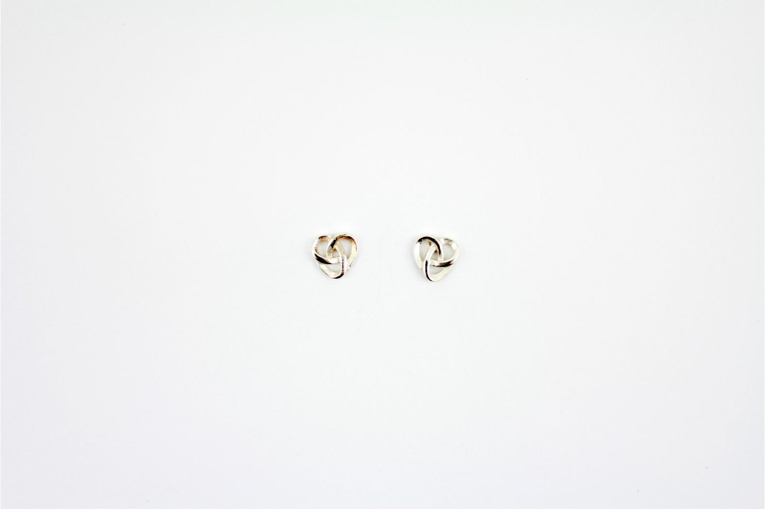 Celtic Inspired Designe silver stud earrings