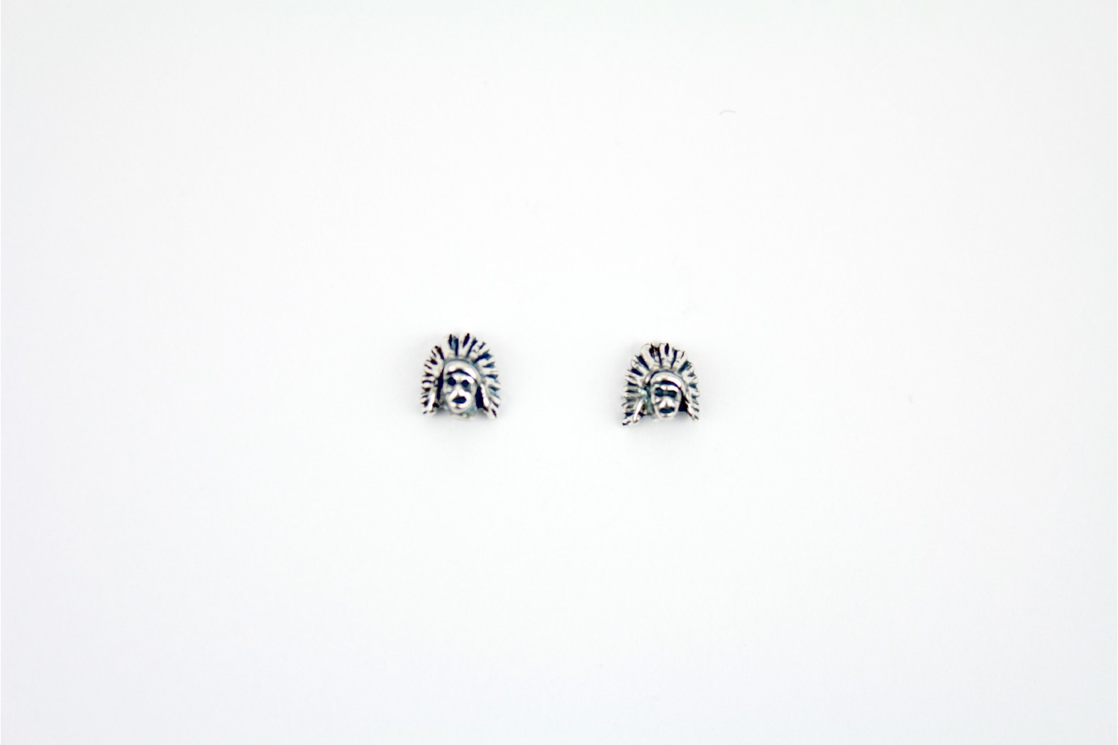 South American Indian Designe silver stud earrings