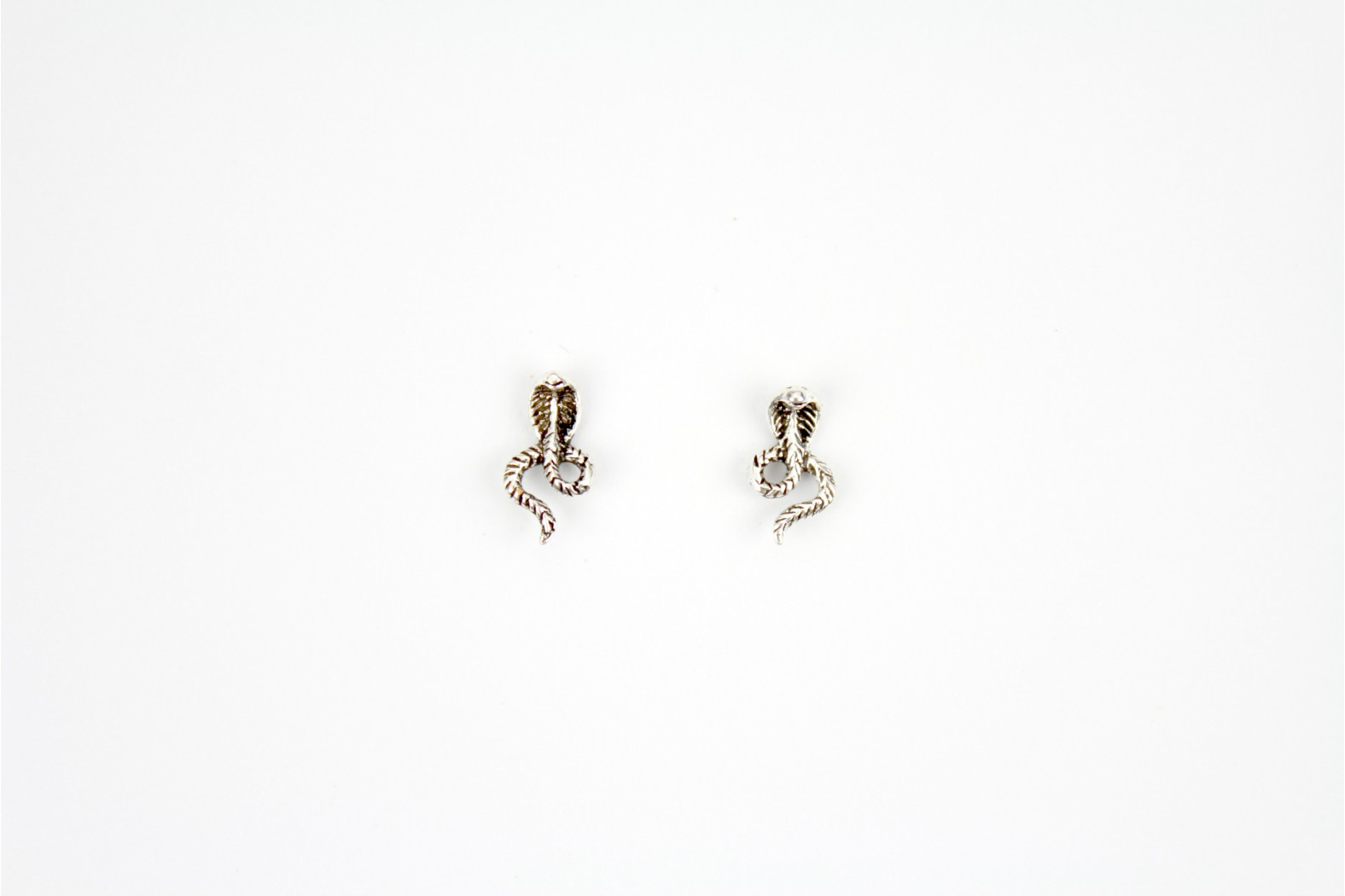 Python Snake Silver stud earrings