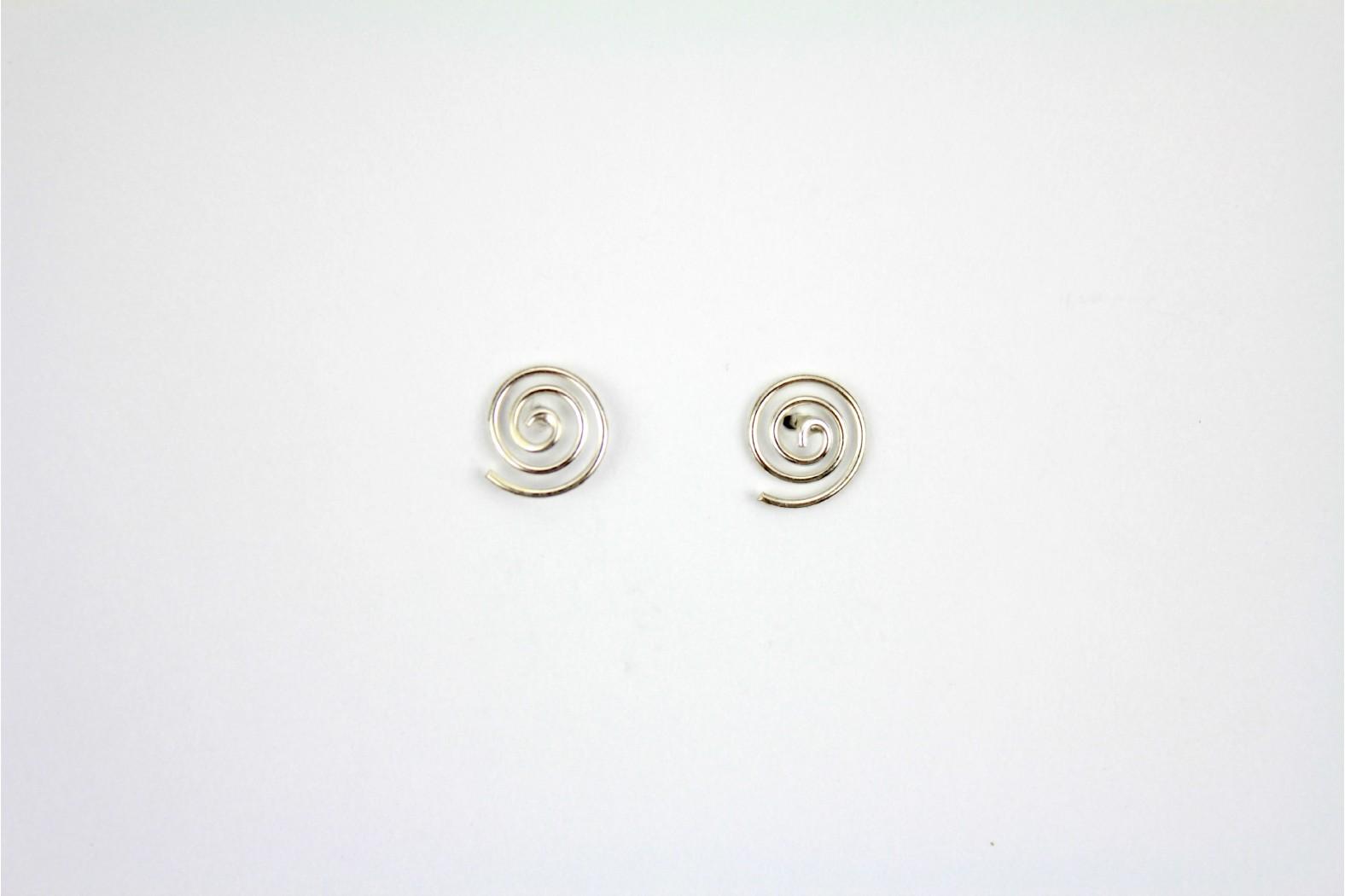Simple Circular Swirl Designe Silver stud earrings