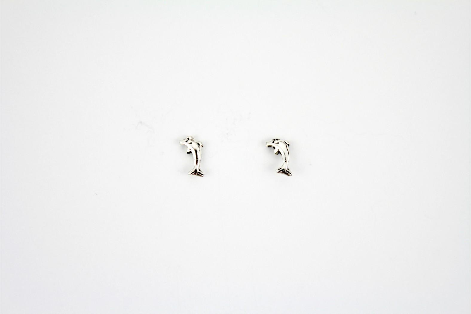 Small Dolphin Designe Silver stud earrings